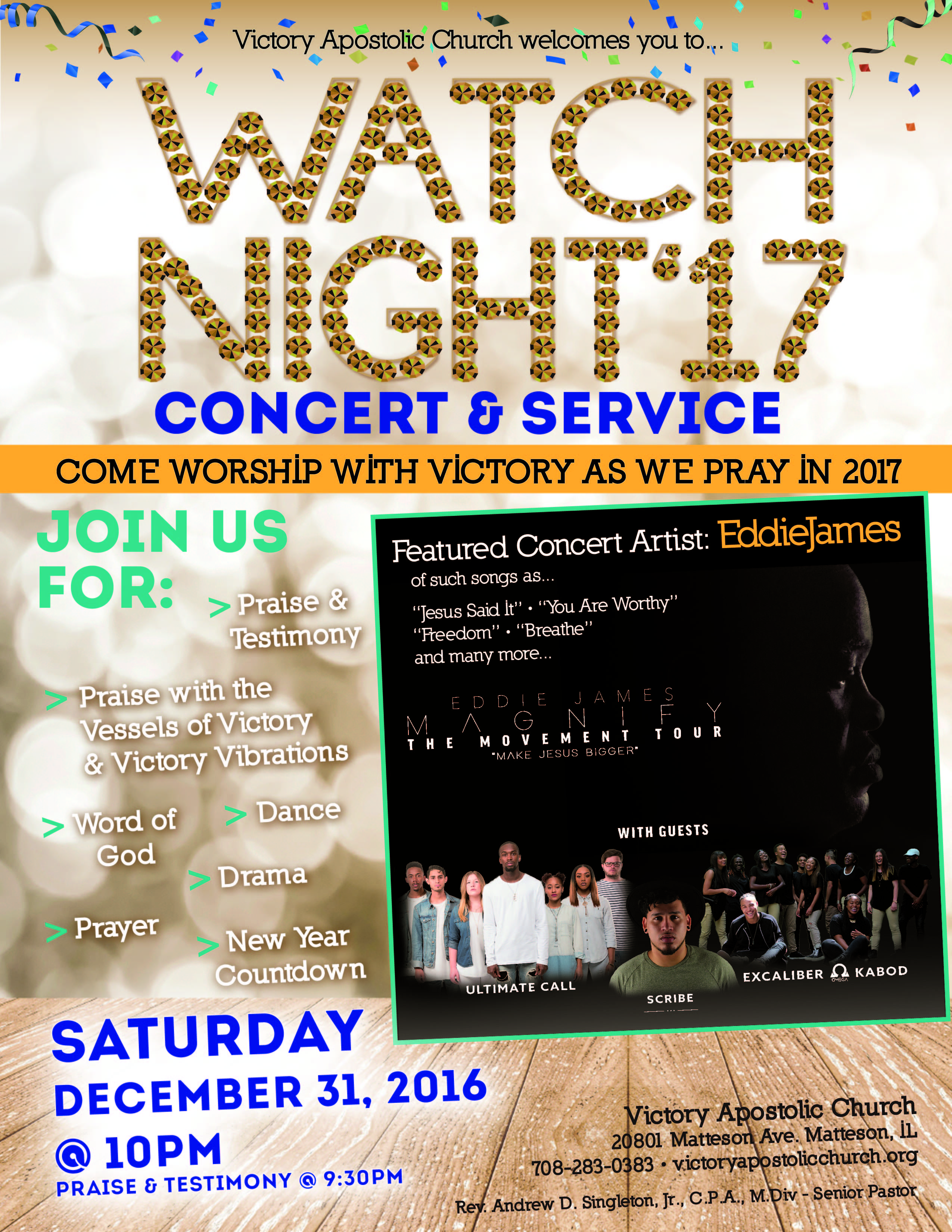 Victory Apostolic Church Welcomes You to their Watch Night