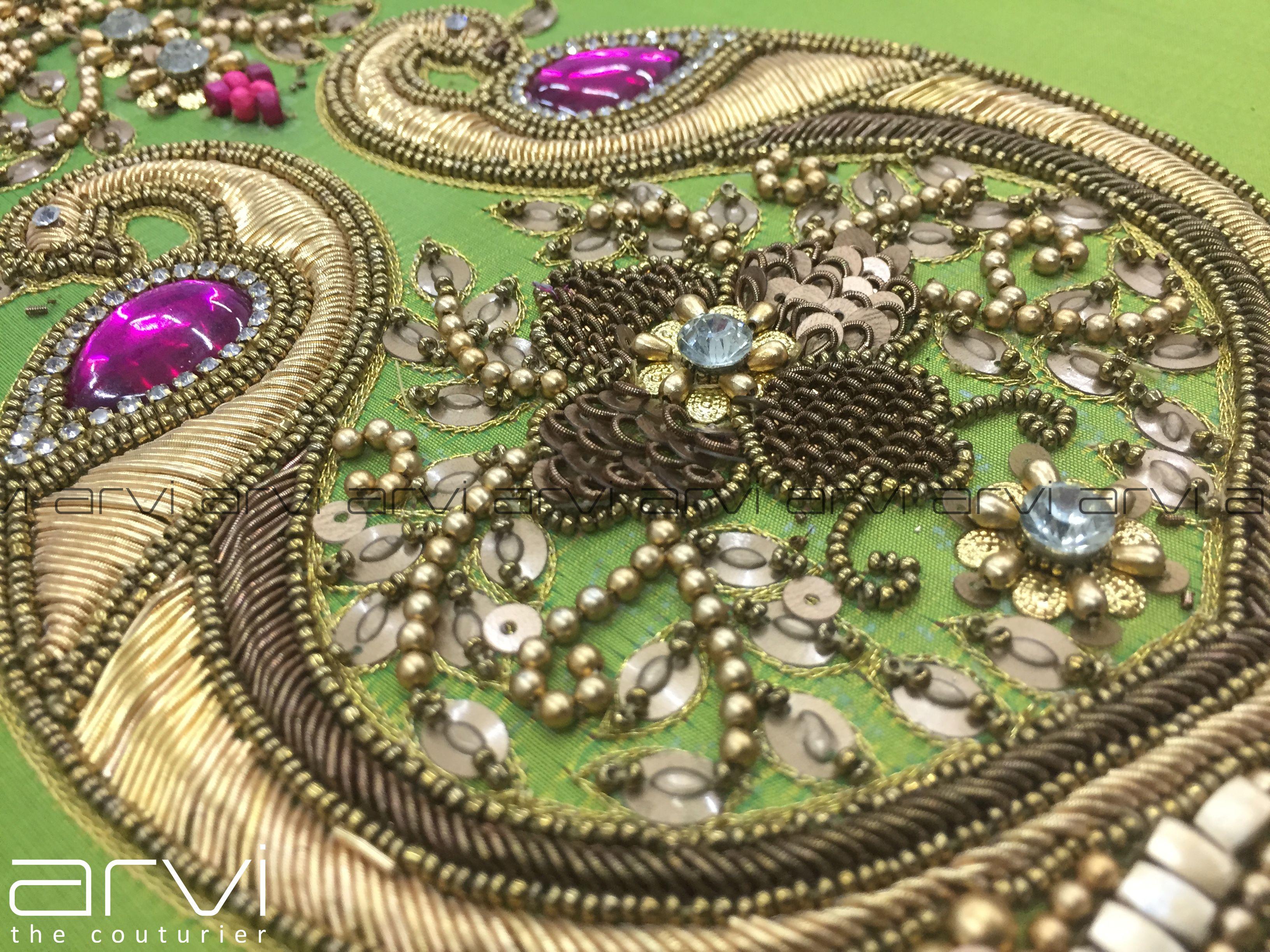 Arvi The Couturier Artistry Aariwork Aari Embroidery Jewellery Jewellerywork Art Des Ladies Boutique Maggam Work Blouse Designs Blouse Designs Indian