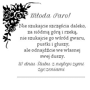 Pin Na Kartki Slubne
