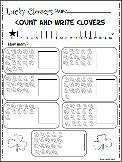 Free Math Counting Worksheet Clover Counting Madebyteachers Counting Worksheets Math Counting Math Counting Worksheets