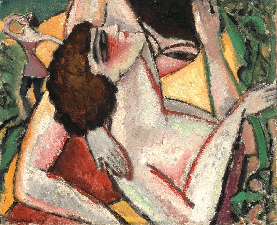 Max Weber - Burlesque , 1909. Oil on canvas
