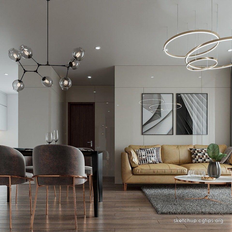 2373 Interior Apartment Scene Sketchup Model By Ktskien Free