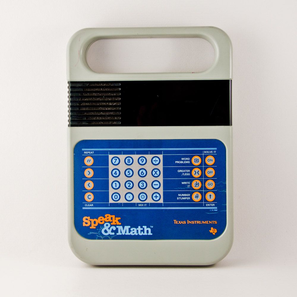 Vintage Speak & Math Game Geek Chic, Geekery, Gift For Him, 1980s, 80's, Eighties, Electronic Game. $30.00, via Etsy.