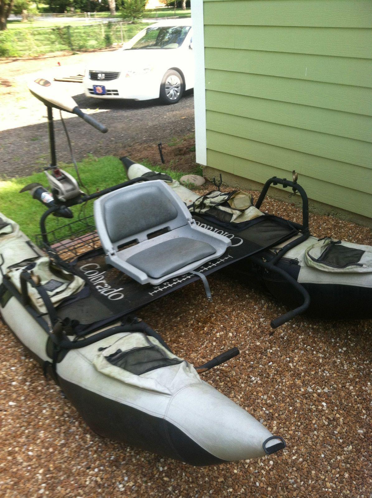 Colorado One Man Fishing Pontoon Minn Kota Trolling Motor Ebay Fishing Pontoon Pontoon Boat Accessories Pontoon