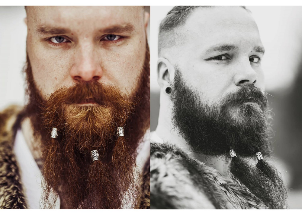 Amazon Com 24pcs Norse Vikings Runes Hair Beard Beads For Bracelets Pendant Necklace Diy Braiding Beads For Hair Braids A Beard Beads Beard Rings Viking Beard