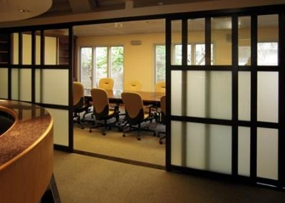 Beautiful Conference Room Sliding Doors.