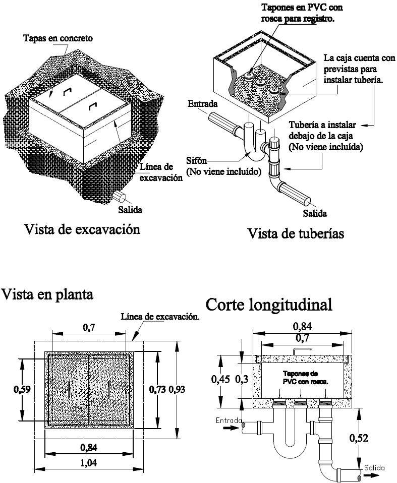 Mucho Tanque Caja De Registro Para Aguas Negras Pluviales Agua Negra Cajas Libreta De Apuntes