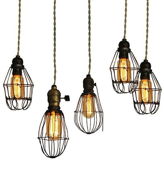 Vintage Cage Lights Cage Light Vintage Industrial Lighting
