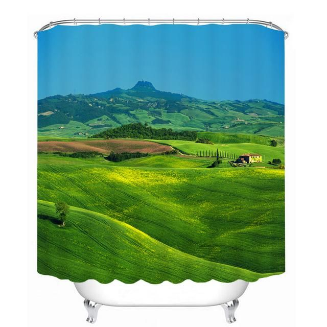 Nature Design Bathroom Shower Curtain 14 Variants Plastic