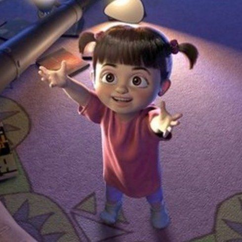 The Voice Of Boo From Monsters Inc Mary Gibbs Was Just A Toddler During Production The Crew Couldn T Get Her To Sit Still And Read Her Lines So They Had H