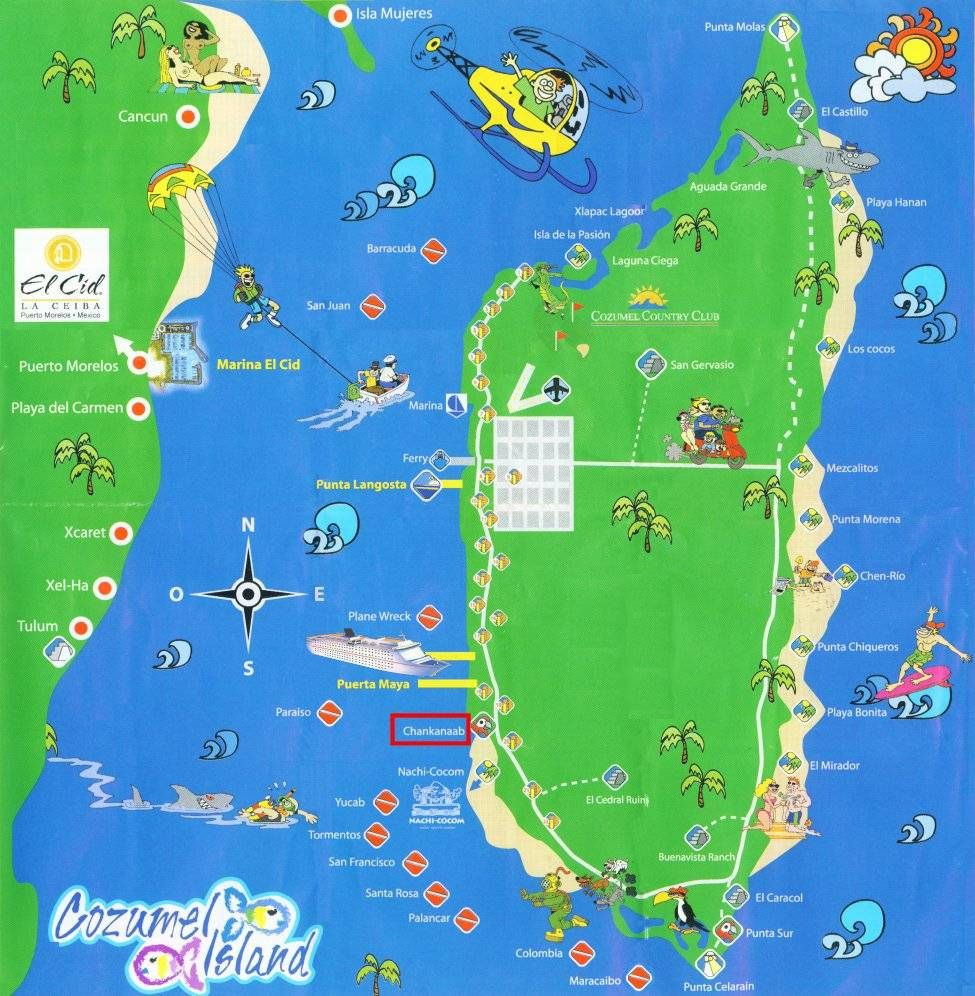 Activities On Cozumel Large Cozumel Maps For Free Download