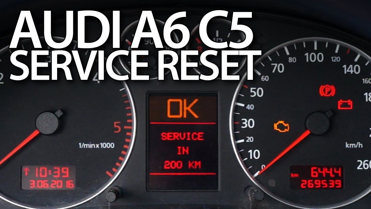 How To  Reset  Service Reminder In  Audi  A6  C5 Oil