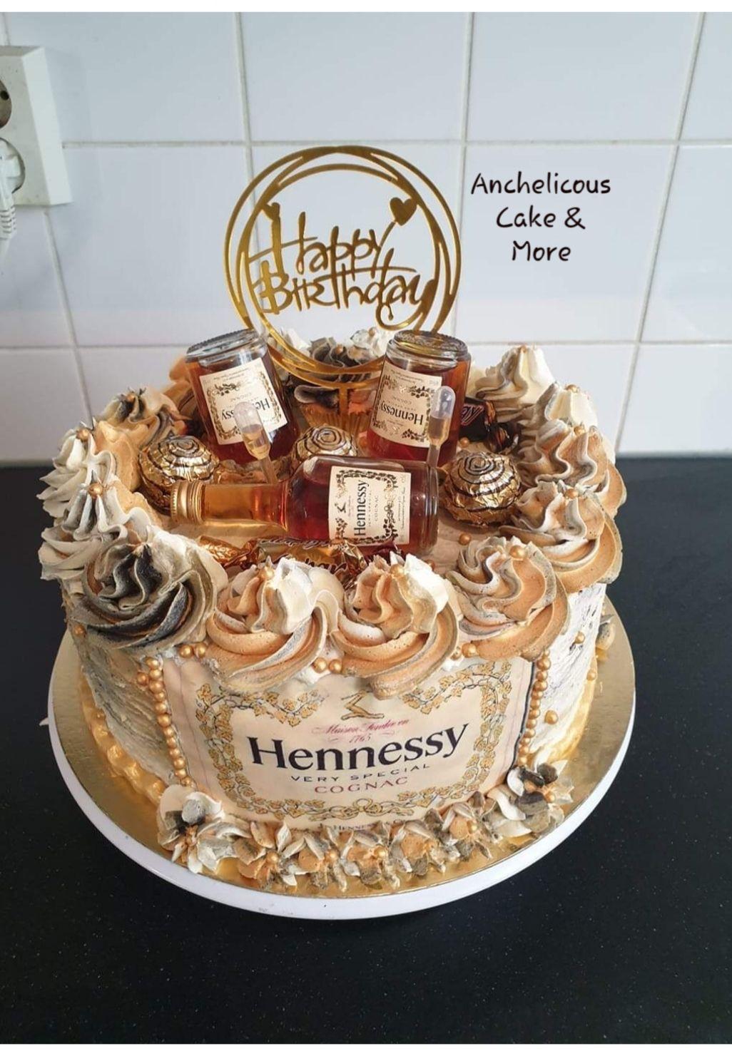 Sensational Hennesy Cake 21St Birthday Cakes Hennesy Cake Birthday Cake Funny Birthday Cards Online Alyptdamsfinfo