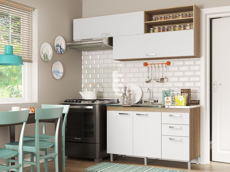 Kit Cozinha Multim Veis Toscana 5058 132 131 4 Portas 3 Gavetas