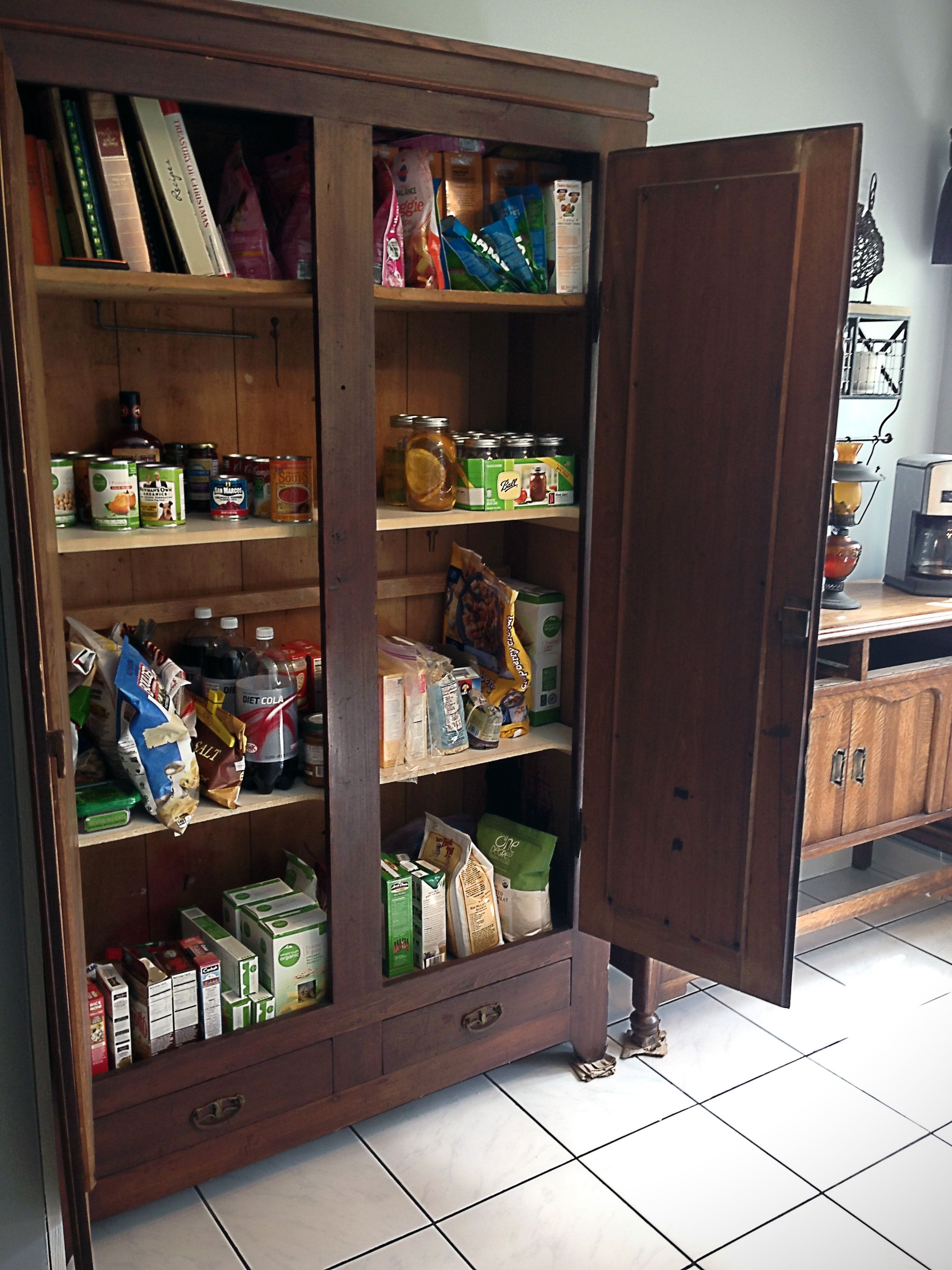 How To Turn An Old Wardrobe Into A Pantry Stand Alone Pantry Unfitted Kitchen Pantry Cabinet