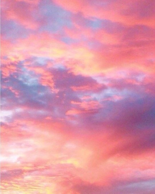 Cotton Candy Clouds Cloudporn Sunset Kawaii Wallpaper Sky