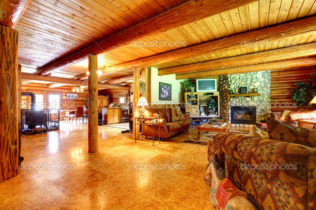 Attrayant Cowboy Log Cabin Living Room Interior Log Cabin Homes Interior Amazing  Ideas Interior Design Ideas Cozy American Cowboy Log Cabin Living Room Interior  Log ...