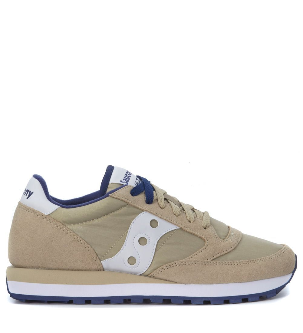 SAUCONY JAZZ SNEAKER IN BEIGE SUEDE AND NYLON. #saucony #shoes #