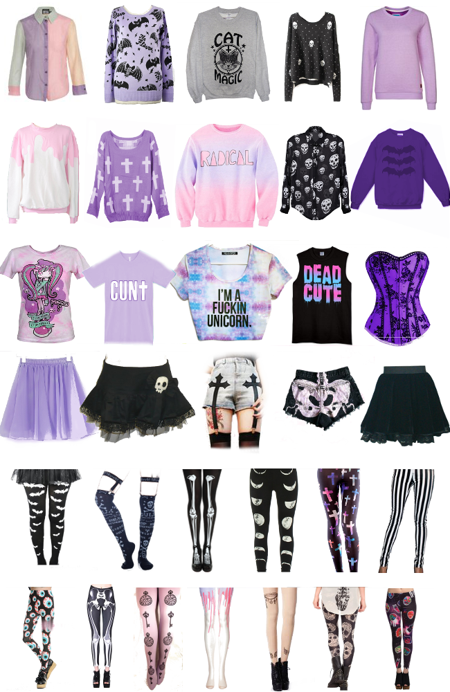 Where to buy pastel goth clothes online
