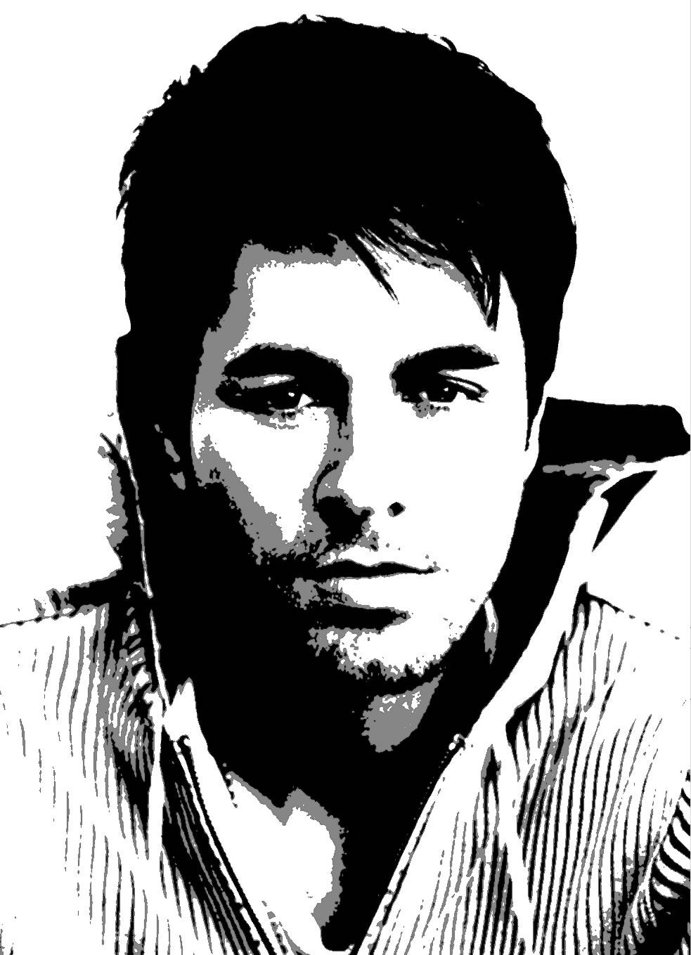 enrique iglesias stencil 983 1359 party inspirations pinterest silhouettes. Black Bedroom Furniture Sets. Home Design Ideas