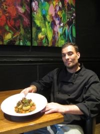 The Maple Grill's Tim Kozody was attracted to the challenge of cooking within the limits of kosher cuisine, and he developed this potato dish with winter puttanesca sauce as a base.