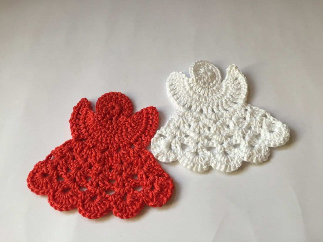 tuto facile ange au crochet 2 miniatures 3 pinte. Black Bedroom Furniture Sets. Home Design Ideas