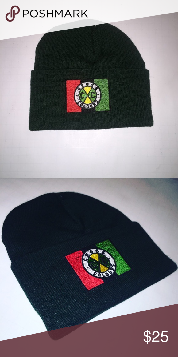 f3306c65d52 Vintage 90s cross colours beanie knit cap hat You are buying a new vintage  cross colours beanie hat cap that is designed to be straight out of the 90s.