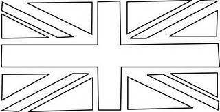 Union Jack Bunting Template Flag Coloring Pages United Kingdom