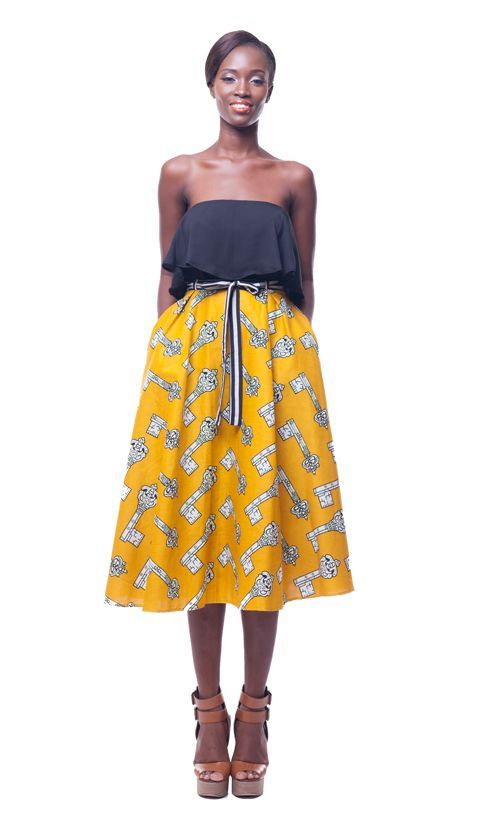 Safua Midi Skirt Latest African Fashion, African Prints, African fashion styles, African clothing, Nigerian style, Ghanaian fashion, African women dresses, African Bags, African shoes, Nigerian fashion, Ankara, Aso okè, Kenté, brocade etc ~DK