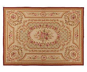 Tappeto Aubusson in lana a mezzo punto Floreal 275x366