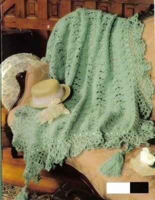 3 Victorian Afghan Crochet Patterns Afghans Pattern Beautiful Book