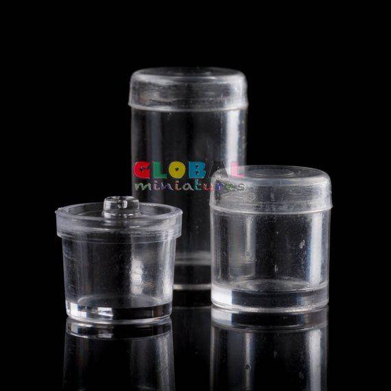 Dollhouse Miniatures Plastic Jar Canister Bottle Lid