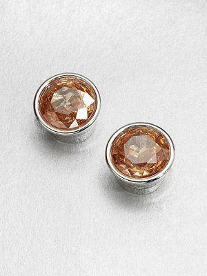 Michael Kors - Faceted Stud Earrings/Silk - Saks.com