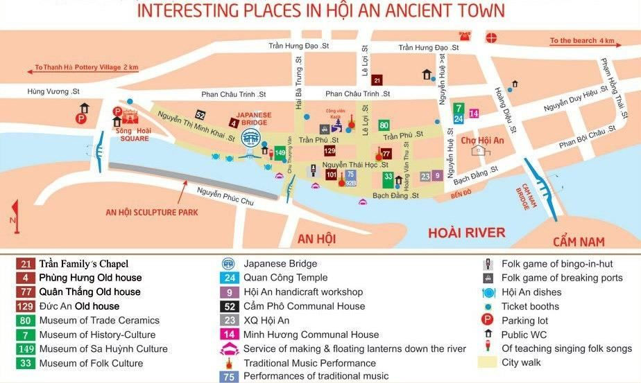 Image result for hoi an ancient town walking map