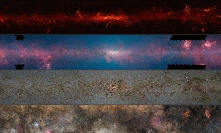 Melkweg  in vier golflengten