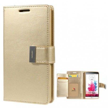 LG G3 Kultainen Rich Diary Lompakkokotelo Suoja  http://puhelimenkuoret.fi/tuote/lg-g3-kultainen-rich-diary-lompakkokotelo-suoja/