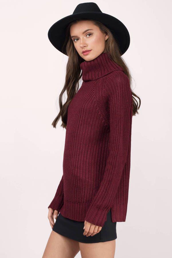 The Fall Shop, Tobi, Wine Over Summer Turtleneck Sweater ...