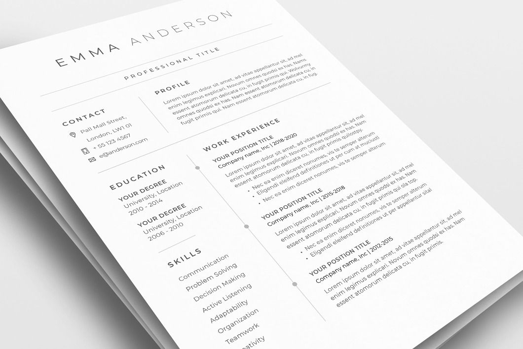 Classic Resume Template 120660 Color Grey Ms Word Resumeway In 2020 Resume Template Templates Resume Icons