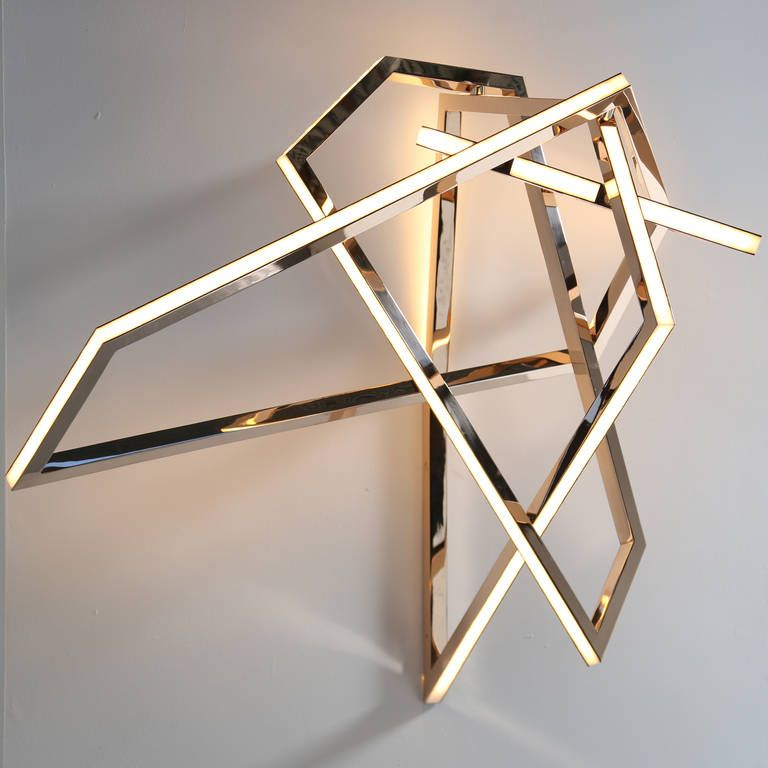 """Wall Light Sculpture: Niamh Barry, """"Gesture"""" Wall-mounted Light Sculpture, IRE"""