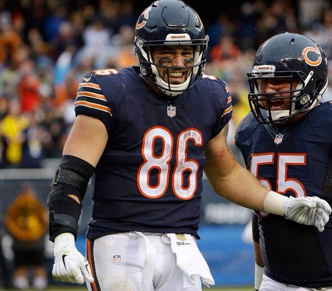 Zach Miller Chicago Bears Football Helmets Bear