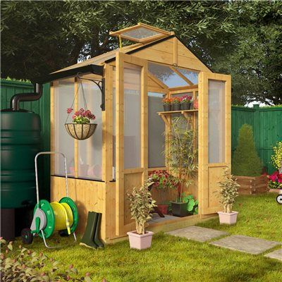 BillyOh 4x6 Polycarbonate Aluminium Frame Lean-To Greenhouse 4ft x 6ft