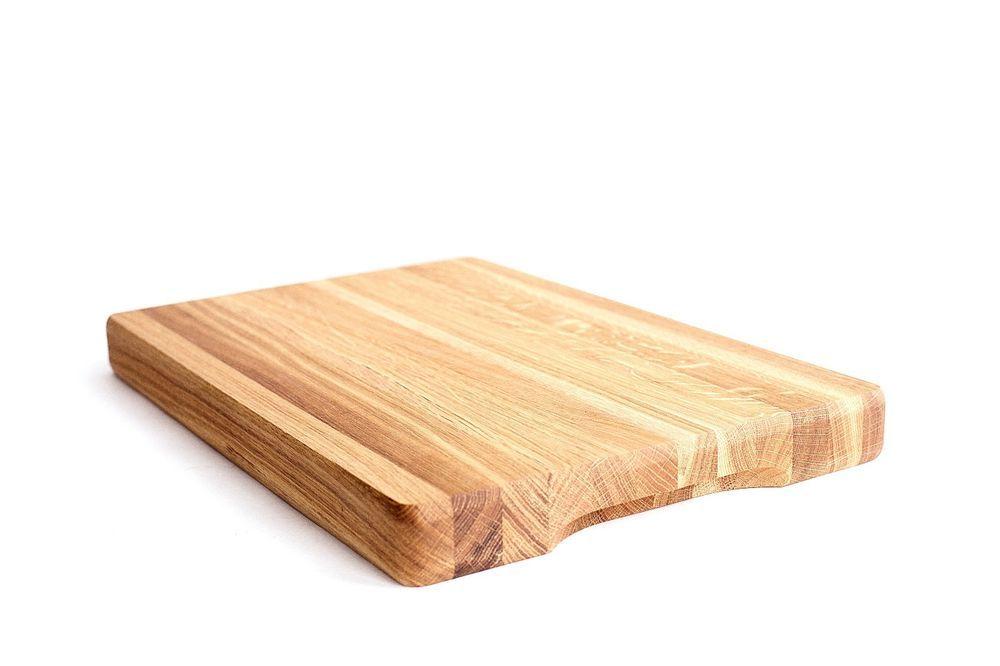 Thick Wooden Oak Chopping Board Oiled Large Oak Butcher Block 450 300 40 Mm Oak Chopping Board Food Preparation