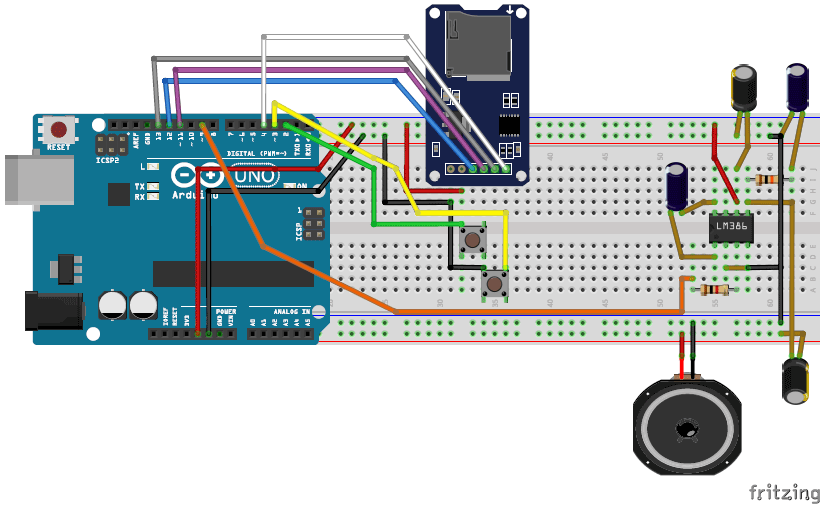 simple arduino music player fritzing breadboard image