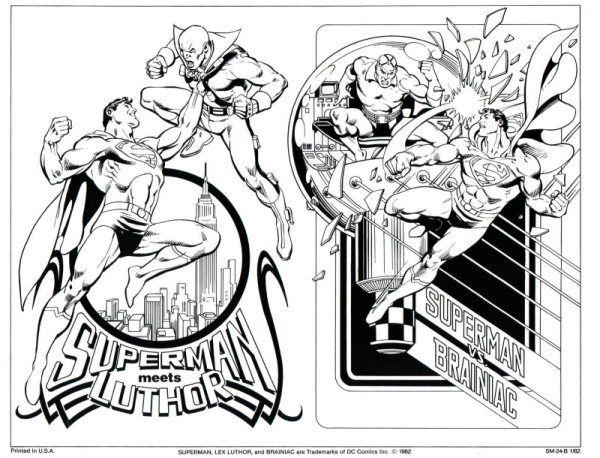 Superman Villains Jose Luis Garcia Lopez G Retro Comic Art Drawing Superheroes Superhero Coloring Pages
