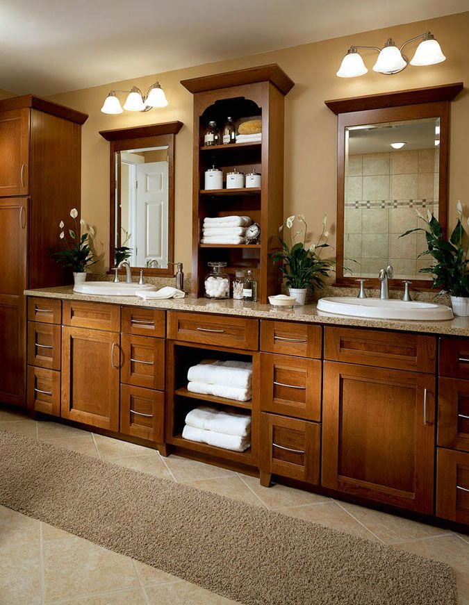 Kraftmaid Kitchen Cabinets Kraftmaid Bathroom Cabinets Freedom Design Kitchen Bath With Images Mission Style Bathroom Home Bathrooms Remodel