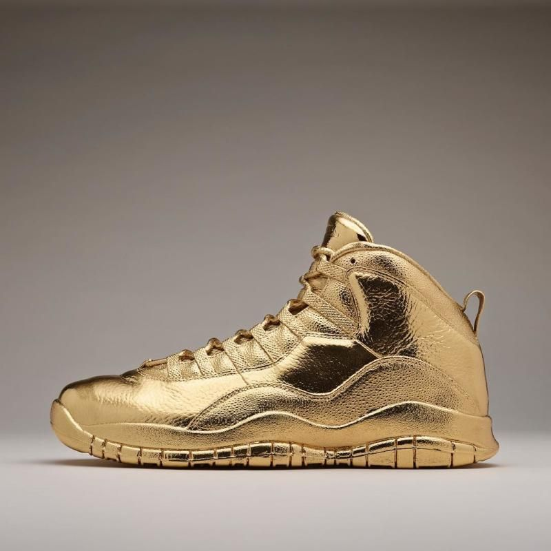 83341036f774 Drake Owns An Air Jordan 10 OVO Made Entirely Out Of Gold
