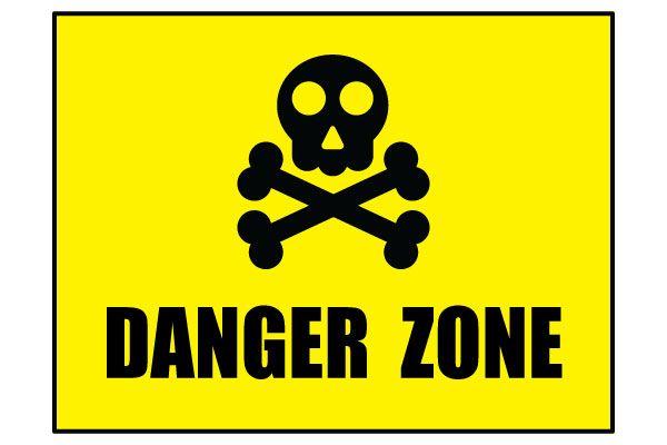 Printable Danger Zone Sign Skull and Crossbones Symbol ...