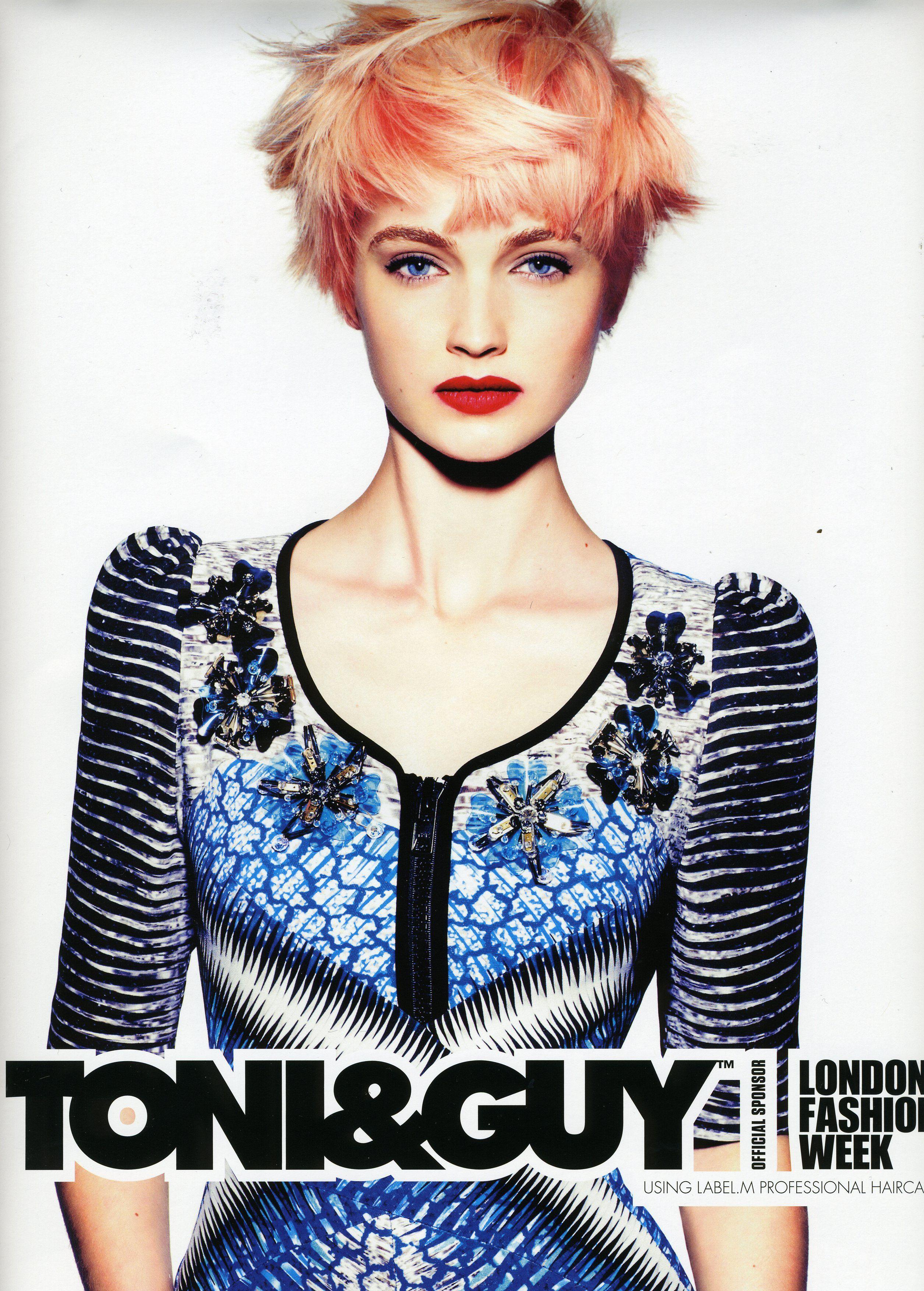 Abby Clee for Toni & Guy  #lfw #londonfashionweek #toni&guy #hair #hairinspiration #pinkhairdontcare #fashion #model #nevsmodels