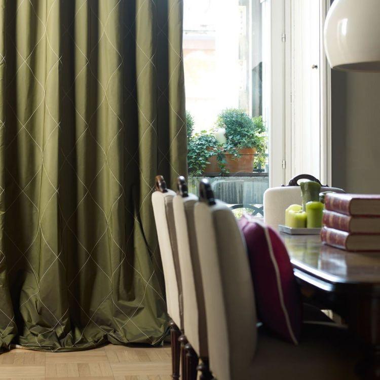 Vorhänge für Wohnzimmer \u2013 22 blickdichte Vorhangstoffe Modern Art