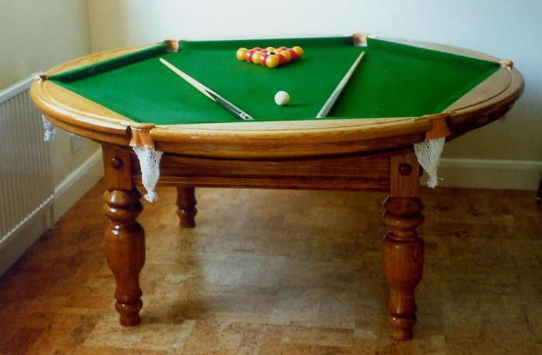 10 Weird Shaped Pool Tables Pool Table Wood Games Billiard Tables